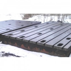 Bed plate cast iron 2750 x 5000 mm